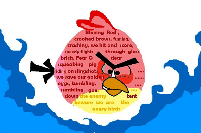 angry bird shape poetry